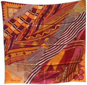 Hermès Hermes Coupons Indiens Silk Scarf in Orange, circa 2008