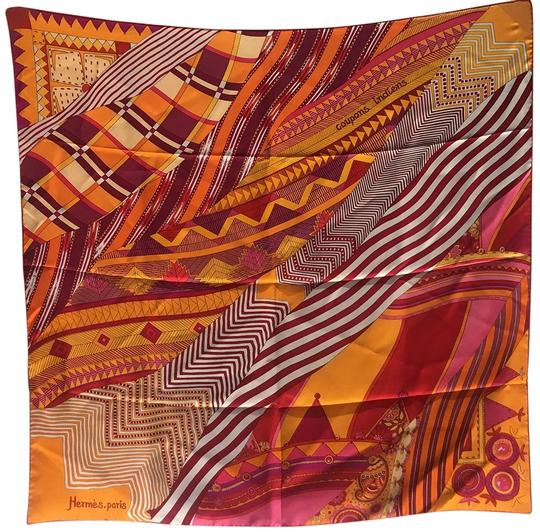 Hermès Hermes Coupons Indiens Silk Scarf in Orange, circa 2008 Image 0