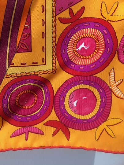 Hermès Hermes Coupons Indiens Silk Scarf in Orange, circa 2008 Image 6