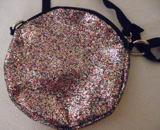 Unbranded Glitter Sparkle Round Circle Prom Baguette Image 2