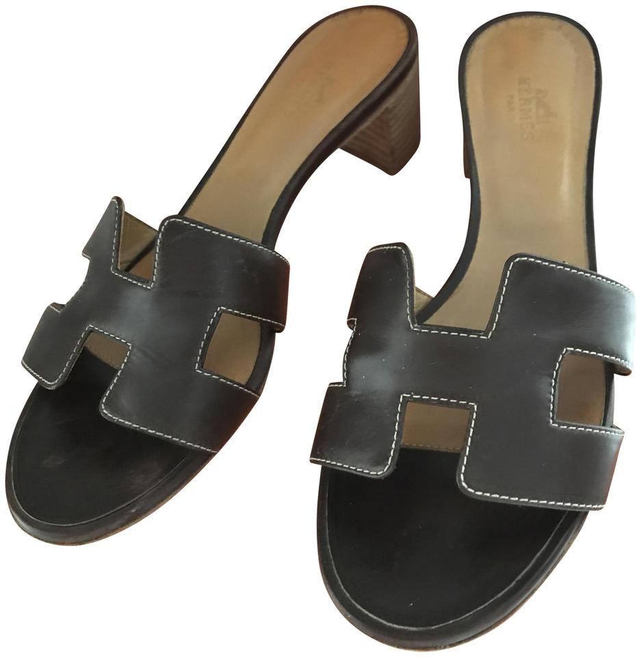 MISS Hermès Brown Oasis Sandal design Mules/Slides Charming design Sandal 056328