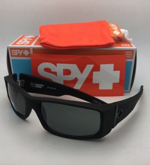 Spy New SPY OPTIC Sunglasses HIELO Soft Matte Black Frame w/ Grey-Green Image 1