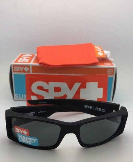 Spy New SPY OPTIC Sunglasses HIELO Soft Matte Black Frame w/ Grey-Green Image 10