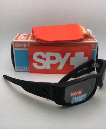 Spy New SPY OPTIC Sunglasses HIELO Soft Matte Black Frame w/ Grey-Green Image 3