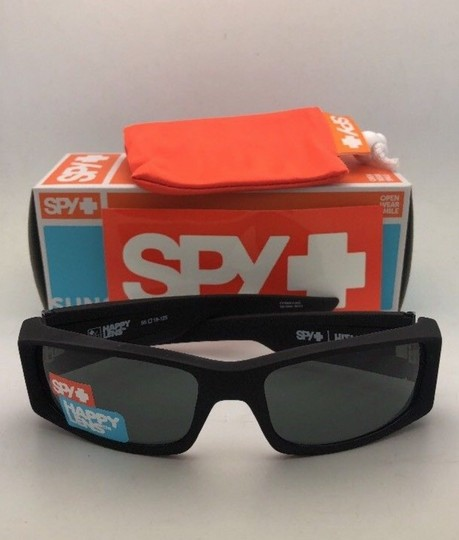 Spy New SPY OPTIC Sunglasses HIELO Soft Matte Black Frame w/ Grey-Green Image 4