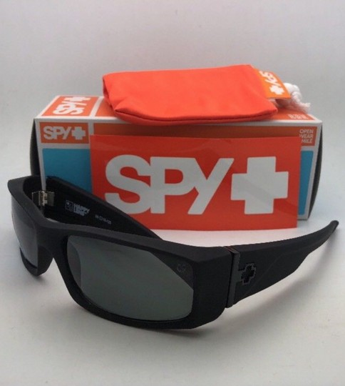 Spy New SPY OPTIC Sunglasses HIELO Soft Matte Black Frame w/ Grey-Green Image 6