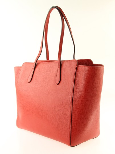 Gucci Leather Tote in Red Image 3