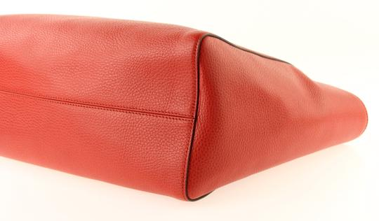 Gucci Leather Tote in Red Image 6