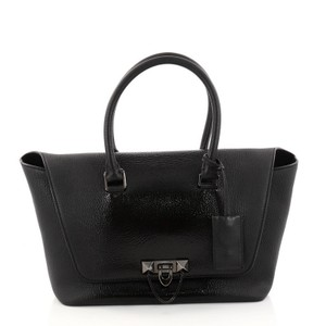 Valentino Leather Satchel in Black