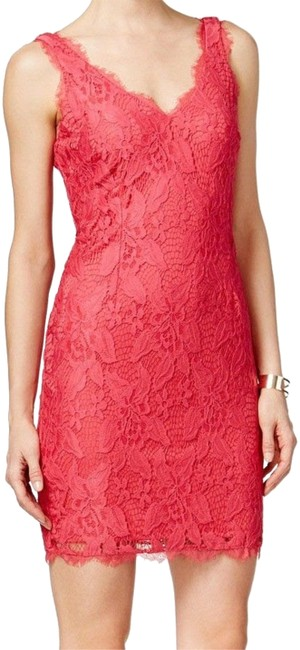 Preload https://img-static.tradesy.com/item/23077376/adrianna-papell-pink-new-womens-floral-lace-sheath-short-cocktail-dress-size-10-m-0-1-650-650.jpg