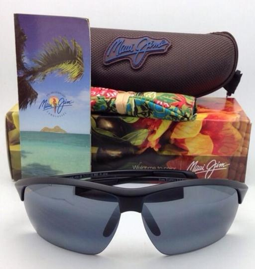 Maui Jim Polarized MAUI JIM Sunglasses STONE CRUSHERS MJ 429-2M Black w/ Grey Image 3