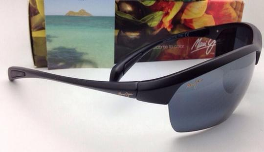 Maui Jim Polarized MAUI JIM Sunglasses STONE CRUSHERS MJ 429-2M Black w/ Grey Image 7