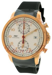IWC IWC Portuguese Yacht Club Chronograph, Silver Dial - Rose Gold on Stra