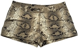 Elizabeth and James Animal Mini/Short Shorts Snakeskin print