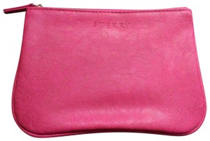 By Terry BY TERRY MAGENTA FAUX LEATHER COSMETICS MAKEUP BAG CASE POUCH SAC