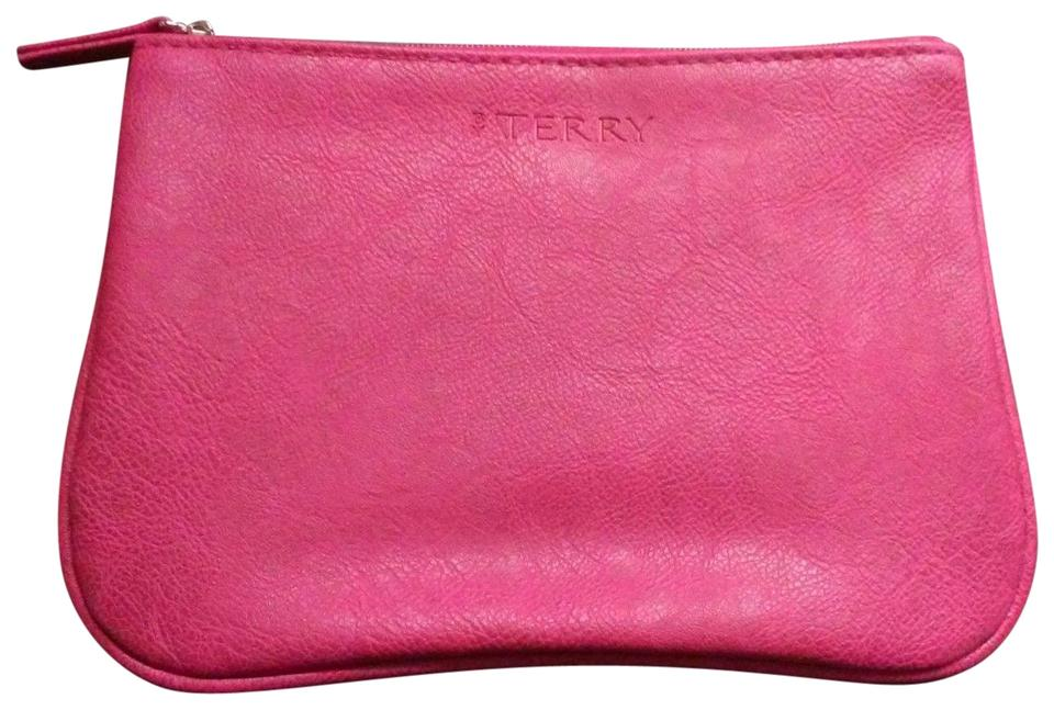 By Terry Magenta Faux Leather Cosmetics Makeup Bag Case Pouch Sac
