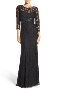 Adrianna Papell Lace Yoke Gown 3/4 Sleve Dress