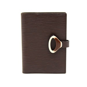 Louis Vuitton Louis Vuitton Moka Brown Epi Leather Agenda Cover MM