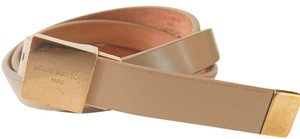Louis Vuitton Louis Vuitton Skinny Leather Belt