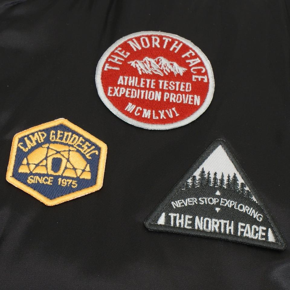 The North Face Black Insulated Barstol Patch Accent Bomber Size 2
