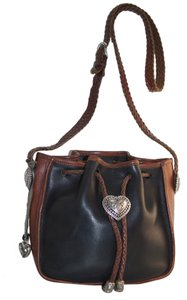 Brighton Hearts Leather Classic Shoulder Bag