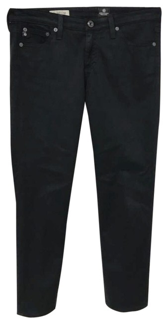 Item - Black Dark Rinse The Stilt Stretchy Cigarette Crop 2 Straight Leg Jeans Size 28 (4, S)