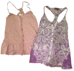 2 purple racer back summer tops Top