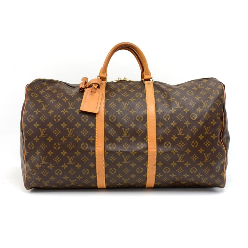da8df34a541 Louis Vuitton Keepall Duffle Vintage 60 Monogram Brown Canvas  Weekend/Travel Bag 55% off retail