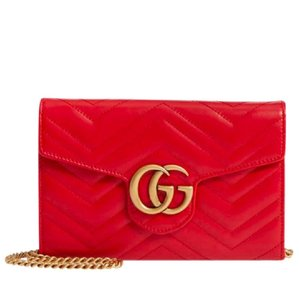 Gucci Marmont Woc Wallet On Chain Cross Body Bag