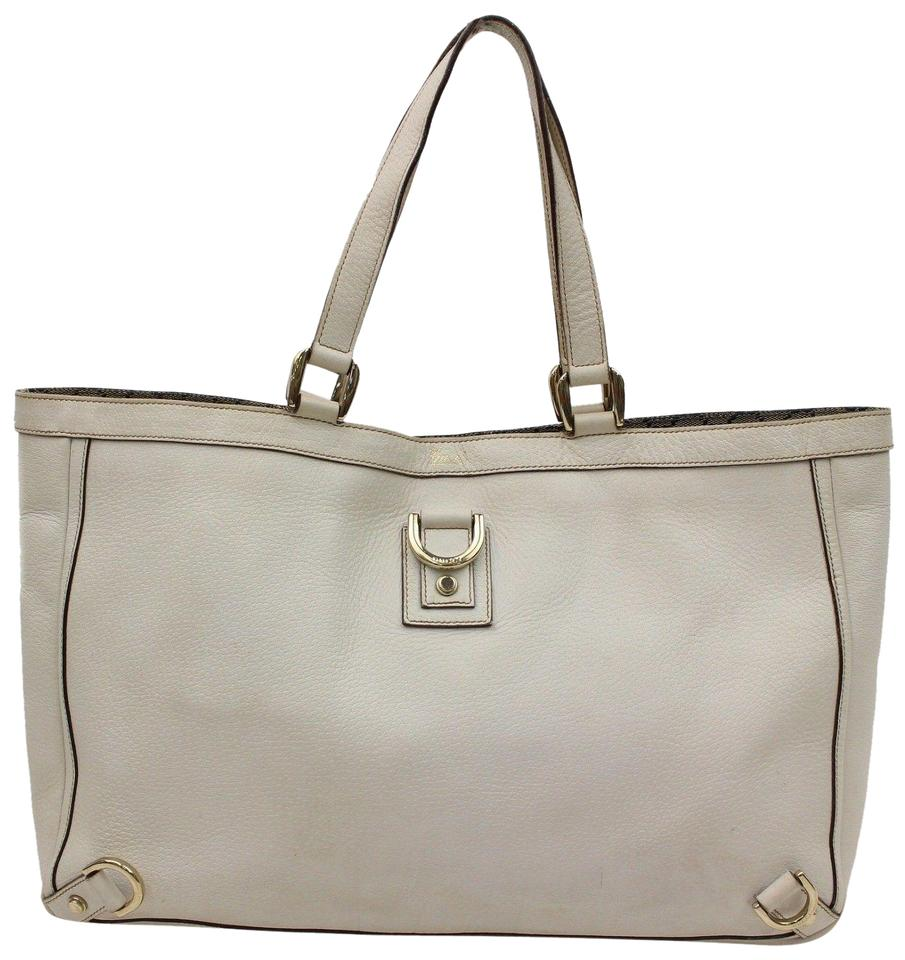 08a936dce Gucci Abbey D-ring Tote 866181 Grey Leather Shoulder Bag - Tradesy