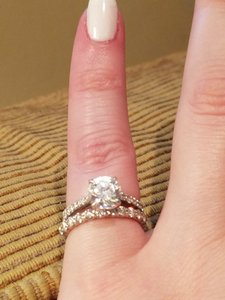 Added To Ping Bag G H Platinum Diamonds Marquise On Setting Women S Wedding