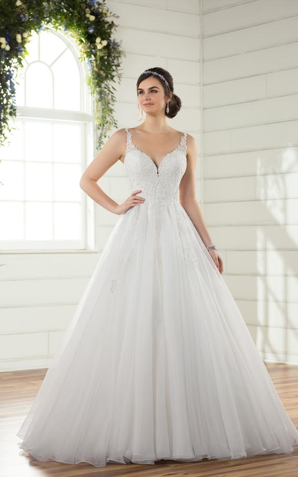 Essense of Australia Ivory Silver Lace Over Ivory Gown with ...