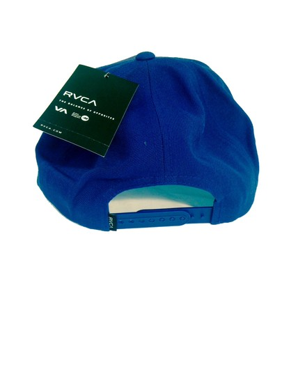 RVCA RVCA Blue Hat Snapback Cap Adjustable O/S