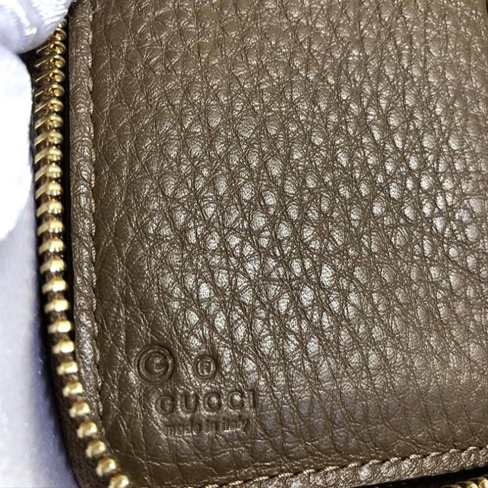 7bb9bf0f794 Gucci Authentic New Gucci Brown Leather Zip Around Coin Wallet 420113 Image  4. 12345