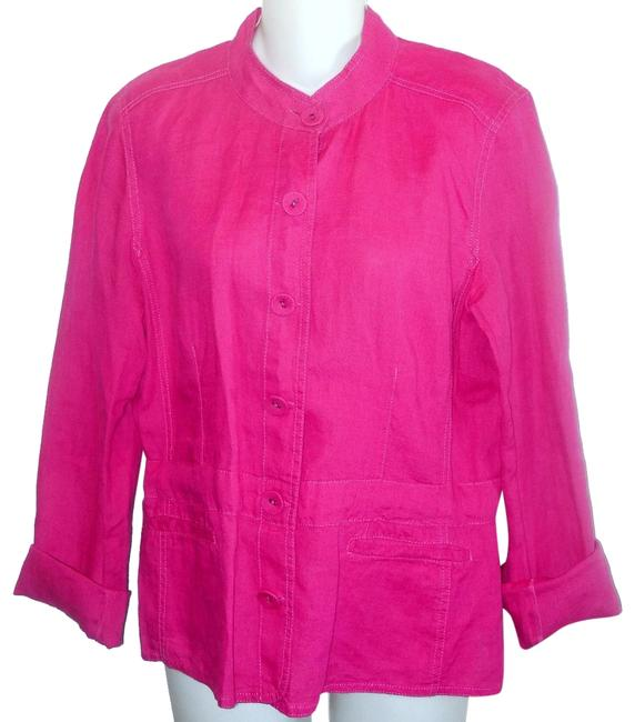 Item - Pink Irish Linen Jacket Size 10 (M)