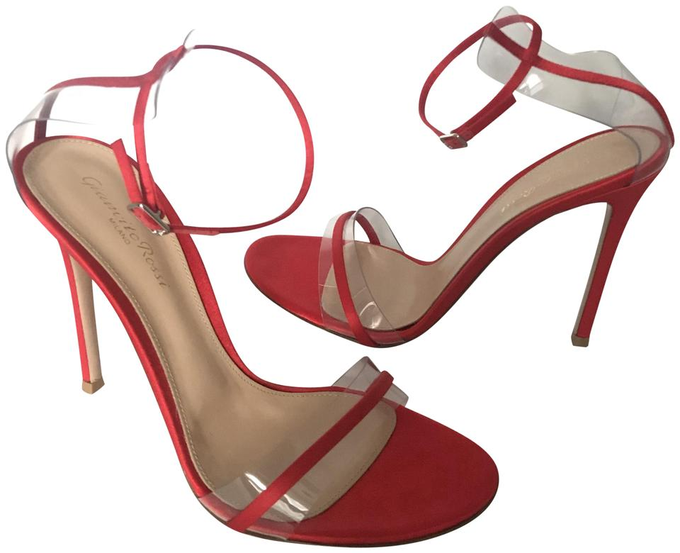 579d638d3b982 Gianvito Rossi Red G String Sandals Size EU 40 (Approx. US 10 ...
