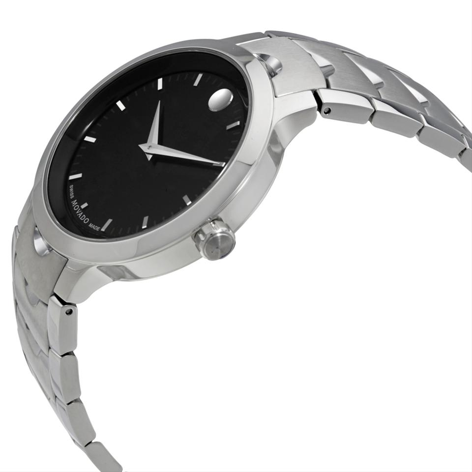 watches mens today movado overstock luno silver stainless watch jewelry s product steel shipping quartz men free