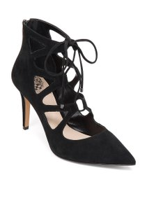 Vince Camuto Suede Leather Pointed Ankle Black Pumps