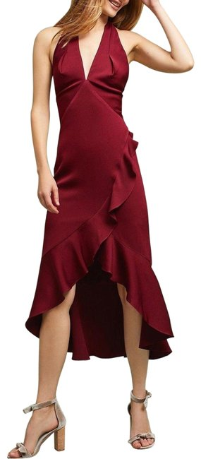 Item - Burgundy Ivolin High-low By Shoshanna Long Night Out Dress Size 6 (S)