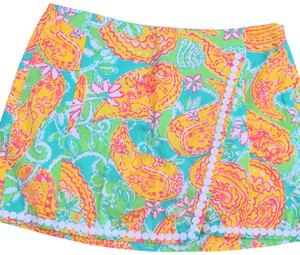 Lilly Pulitzer Mini Skirt yellow /while
