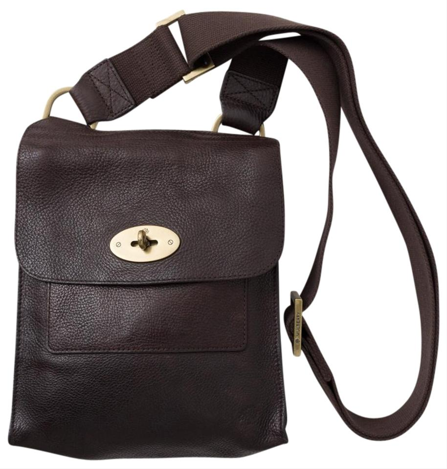 21b1e6a78e Mulberry Antony Messenger Handbag Dark Brown Leather Cross Body Bag ...