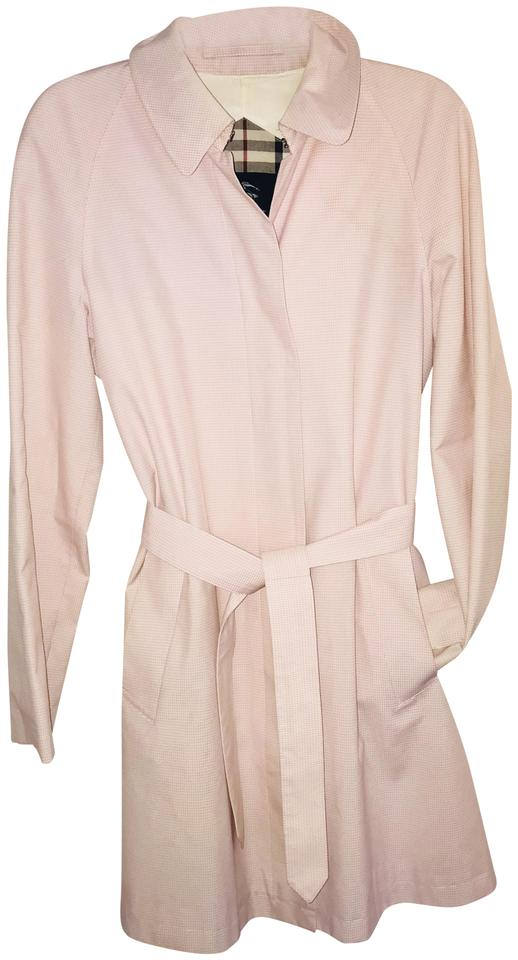 Perfect Burberry Blue Label Pink Women's Sz. Trench Coat Size 8 (M) - Tradesy LS68
