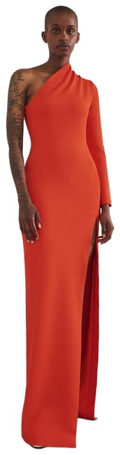 Item - Bright Red Dreamy Nadia One Shoulder Gown Long Night Out Dress Size 2 (XS)