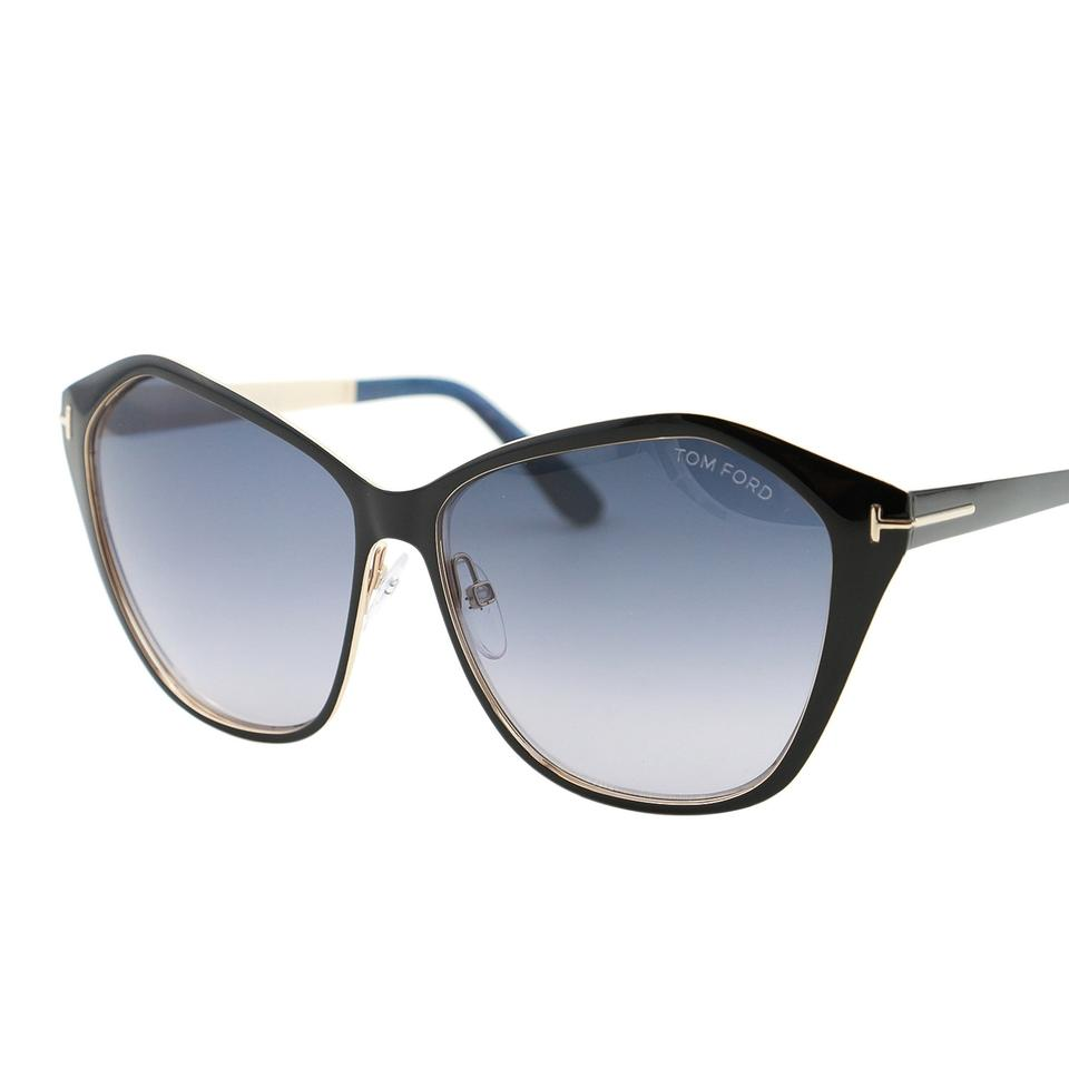 31759d982a Tom Ford New TF Lena FT-0391 Angular Butterfly Metal Sunglasses 58mm Image  7. 12345678