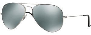 Ray-Ban Ray Ban Unisex Pilot Sunglasses RB3025 W3277 Silver Frame Grey Lens