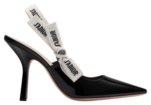Dior Christian Ribbon Slingback Black j'adior Pumps