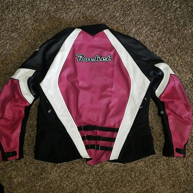 Joe Rocket Black/Pink Genuine Leather Jacket Size 14 (L) Joe Rocket Black/Pink Genuine Leather Jacket Size 14 (L) Image 1