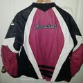 Joe Rocket Black/Pink Genuine Leather Jacket Size 14 (L) Joe Rocket Black/Pink Genuine Leather Jacket Size 14 (L) Image 3