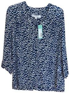 Amour Vert Top Blue and White