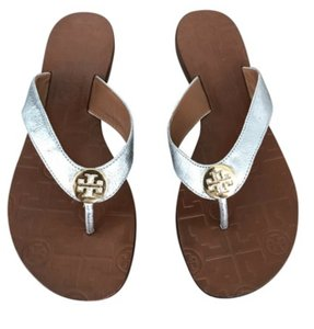 69f62e030 Tory Burch Silver Sandals - item med img. Tory Burch. Silver New Thora Flip  Flops Sandals